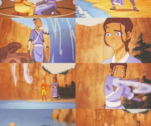 aang, katara, and atla image