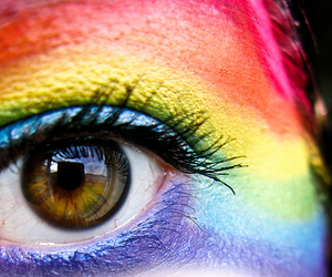rainbow and eye image