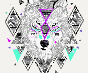 wolf, art, and hipster image