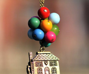 up, house, and balloons image