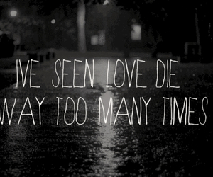 love, quote, and die image