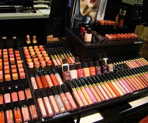 make up, chanel, and lipstick image
