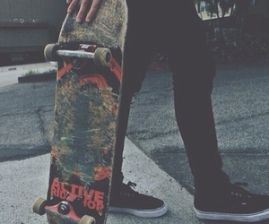 boy, skateboard, and hipster image