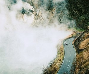 road, car, and nature image