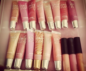 lip gloss, Victoria's Secret, and beauty rush image