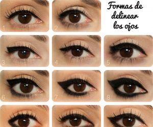 negro, ojos, and make up. maquillaje image
