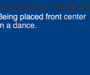 dance, little dance things, and front center image