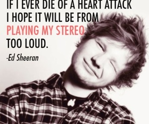 ed sheeran, quote, and music image