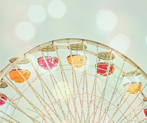 ferris wheel, pastel, and photography image