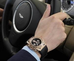 car, man, and watch image