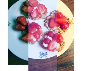 icecream, strawberrys, and healthyfood image