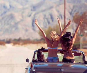 girl, summer, and friends image
