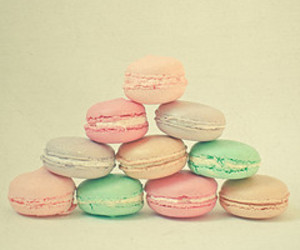 pastel, macaroons, and food image