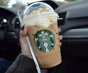 adore, starbucks, and love image