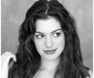Anne Hathaway, beautiful women, and black and white image