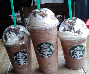 starbucks, java chip, and friends image