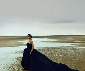 dress, Felicity Jones, and black image