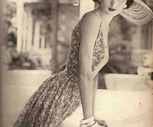 vintage, dress, and woman image