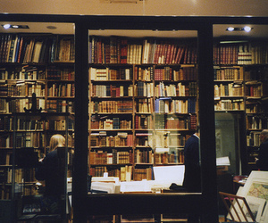 book, library, and vintage image