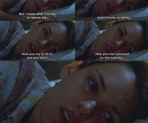 girl interrupted, sad, and quote image