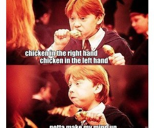 Chicken, harry potter, and choose image