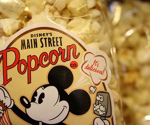 popcorn, disney, and mickey image