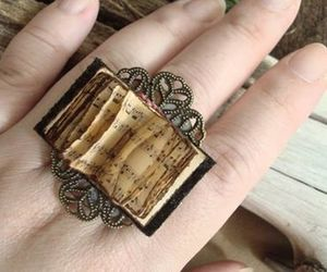 beauty, book, and ring image