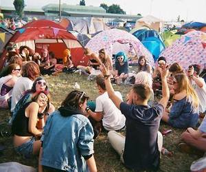 friends, indie, and festival image