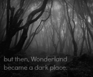 dark, wonderland, and quote image
