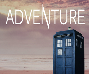 adventure, blue box, and doctor who image