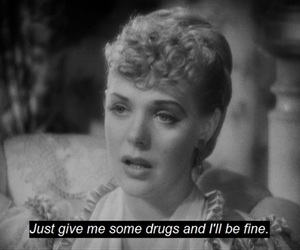 drugs, black and white, and text image