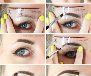 eyebrows, makeup, and diy image