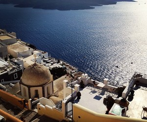 city, Greece, and ocean image