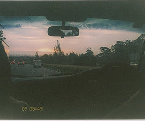 car, vintage, and road image