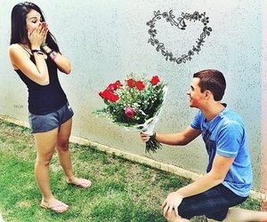 boy, cute, and couple image