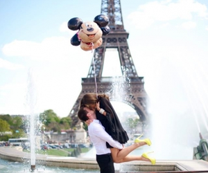 couple, eiffel tower, and fashion image