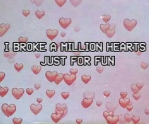 funny, hearts, and pale image