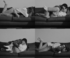 couples, happines, and kiss image
