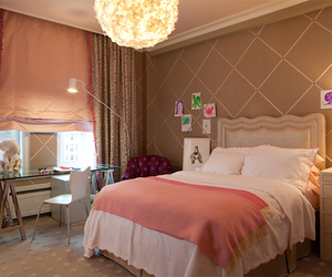 bedroom, house, and pink image