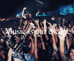 music, party, and escape image
