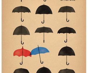 umbrella, blue, and red image