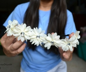 flowers, tumblr, and flower crowns image