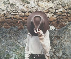 hat, girl, and outfit image
