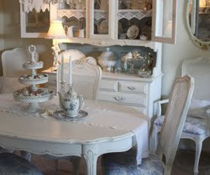 dining and shabby chic image