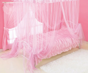 bed, curtain, and interior image