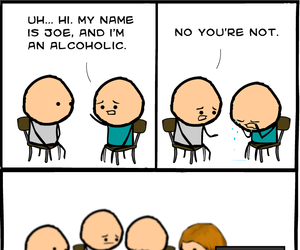 alcohol, comic, and funny image