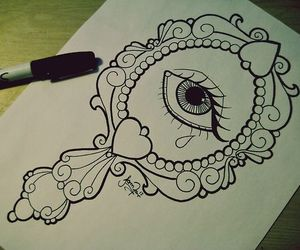 drawing, heart it, and Sharpie image