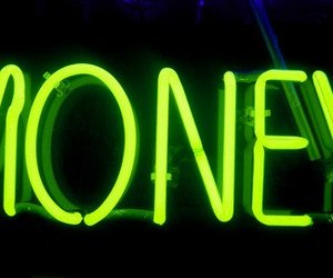 money, neon, and green image