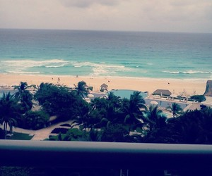 beach, cancun, and waves image