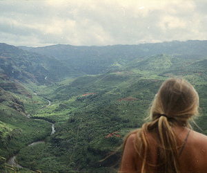 girl, nature, and landscape image